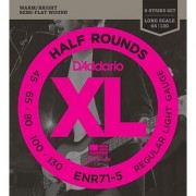 D'Addario ENR71-5 Half Round 5-String Bass Guitar Strings Regular Light 45-130 Long Scale