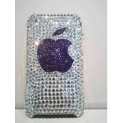 "Cover Swarovski ""logato Mela"" IPHONE"