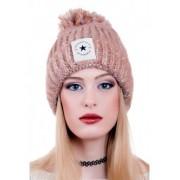 Кафява зимна шапка Fashion