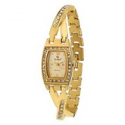 Evelyn Stainless Steel Gold Plated Wrist Watch for Women-EVE-405