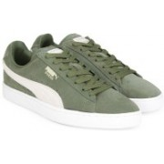 Puma Suede Classic + IDP Sneakers For Men(Olive, Grey)
