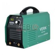 Aparat de sudura Verk VWI-160A, Electrod 1.0 - 4.0 mm, 5.5 Kg, Accesorii incluse, Verde
