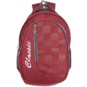 Classic Polyester School Bag |Shoulder Backpacks | Casual Bag for Girls & Boys 22 L Backpack(Maroon)