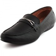 stylish step Formal Shoes For Men black Leather Shoes by stylish step bra nd