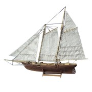 1:120 Scale Wooden Wood Sailboat Ship Kits 3D Puzzle Model Building Decoration Boat Gift Toy