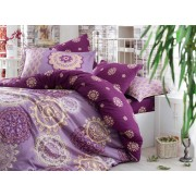 Lenjerie de pat King Hobby Home Satin DELUX Ottoman Purple