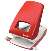 Perforator metalic de birou, pentru maxim 40 coli, rosu, LEITZ 5138 NeXXt Series