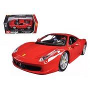 Ferrari 458 Italia, Red - Bburago 26003 - 1/24 scale Diecast Model Toy Car