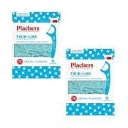 Plackers púas dentales de hilo doble, 75 unidades (2)