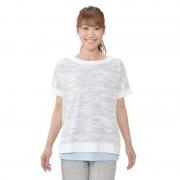 アディダス カモ柄 2in1レイヤード半袖Tシャツ【QVC】40代・50代レディースファッション