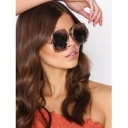 NLY Accessories 70s Sunglasses Solglasögon Pink Glitter