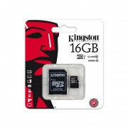 Memoria Micro SDHC 16G Clase 10 G2 C/A SDC10G2/16GB Kingston