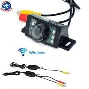 Auto Wayfeng WF Cámara de Respaldo de visión Trasera inversa de Coche inalámbrico 2.4G 7 Kit de estacionamiento de visión Nocturna IR