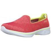 Skechers Performance Women s Go Walk 4 Kindle Slip-On Walking Shoe Pink/Lime 8 B(M) US