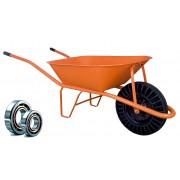 HTI Stavební kolečko PROFI 60l oranžové bantam LOŽISKA KSLB02 Ložisko v kole: Válečkové