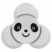 BLCR Panda cabeza patron tri-estilo de juguete EDC dedo spinner - plata
