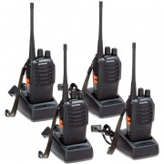 Pack 4 Walkie Talkie UHF Baofeng BF-888S Radio Portatil