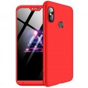 GKK 360 Protection telefon tok hátlap tok Első és hátsó tok telefon tok hátlap az egész testet fedő Xiaomi Mi A2 Lite / redmi 6 Pro piros