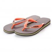 【SALE 20%OFF】ハワイアナス havaianas BRASIL LOGO (adult sizes) (dark brown/orange) レディース メンズ
