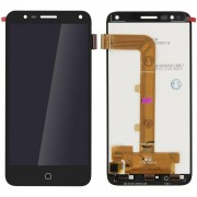 Clappio Repuesto Pantalla LCD/Táctil Negra para Alcatel Pop 4