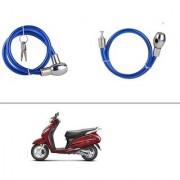 AutoStark Heavy Duty Multi Purpose Goti/Key Helmet Lock (Blue) (Pack of 1) for Honda Activa 125