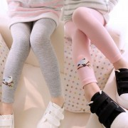 Autumn Children Girls Fashion Cute Pattern Hot Sell Baby Girl Stretch Leggings Pants Toddler Child Candy Color Trousers