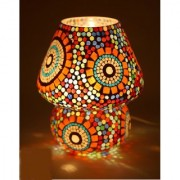 Multicolour Mosaic Style Dome shaped Glass Table Lamp For Gift Home Dcor decorative gift items diwali lights for
