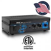 Pyle Home Audio Amplifier Stereo Power Amp System, Aux/MP3 (3.5mm) Input, Speaker Terminals, RCA Input, 2 x 120 Watt
