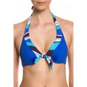 Chantelle Bikini-Oberteil, azurblau/weiß/türkis