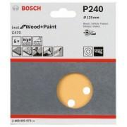 Bosch Slippapper för excenterslip 125 mm Bosch Best 5-pack (240)