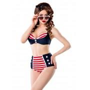 Belsira Maillot de bain 2 pièces Bikini Rockabilly Sailor Pin-Up Belsira...