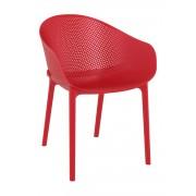 Sedia impilabile SKY in polipropilene, rosso CLP, rosso, altezza seduta