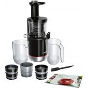 Storcator de fructe cu melc Bosch MESM731M,150W, 55 RPM, 3 filtre (fin, gros, sorbet), Negru