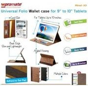 Promate Rind-10 , Universal Folio Wallet Case for