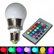 CXHEXIN E27 3W RGB LED del bulbo del globo w / controlador remoto (85-26 AC)