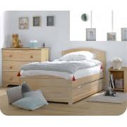 Pack cama juvenil NATURE Natural + Somier + Colchón
