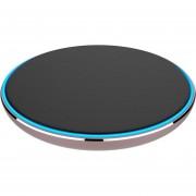 Louiwill Portátil De Nueva Generación Ultra Thin Metal Round Shape Qi Wireless Cargador Pad De Carga