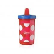 Tommee Tippee Free Flow čaša s preklopnim usnikom Super Sipper crvena
