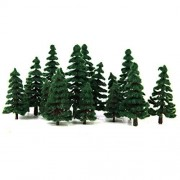 6cm 12cm Dark Green Leaves To 16 Set 4 Size Trees Tree Model Tree Scene Collection The Model Railway, Diorama And Architectural Model Train Model