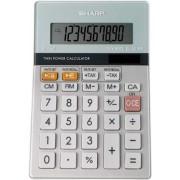 Sharp Semi-Desktop Calculator 10-digit Silver EL331ER