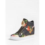 Guess Freeta Hoge Sneakers Bloemen - Multicolor - Size: 38