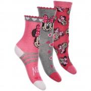Minnie-szürke-csíkos zokni szett