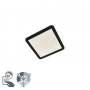 QAZQA Moderne plafondlamp 30cm zwart IP44 3-staps dimbaar incl. LED - Steve
