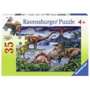 PUZZLE DINOZAURI, 35 PIESE - RAVENSBURGER (RVSPC08613)