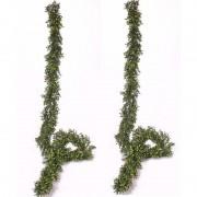 Bellatio flowers & plants 2x Buxus kunstplant slingers 180 cm - Kunstplanten