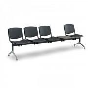 Kovo Praktik Plastové lavice Design, 4-sedák + stolek šedá
