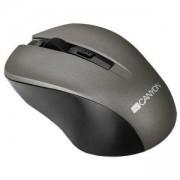 Мишка CANYON Mouse CNE-CMSW1(Wireless, Optical 800/1000/1200 dpi, 4 btn, USB, power saving button), Graphite, CNE-CMSW1G