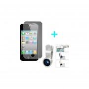 Lamina mica protectora Iphone 5 5C 5S + Lente clip Universal para Smartphone