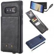 Samsung Voor Galaxy Note 8 Vertical Flip Shockproof Leather Protective Case met Short Rope Support Card Slots & Bracket & Photo Holder & Wallet Function(Gray)