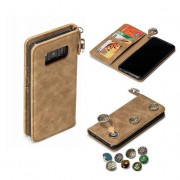 GranC - drukknopen wallet hoes - Samsung Galaxy S8 - taupe